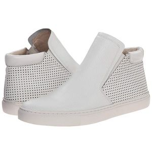 "KENNETH COLE ""Kalvin"" perforated White sneaker"